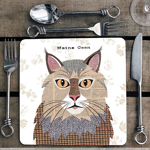 Maine Coon Cat Placemat
