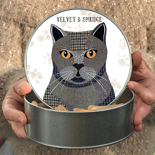 Personalised British Shorthair Cat Tin