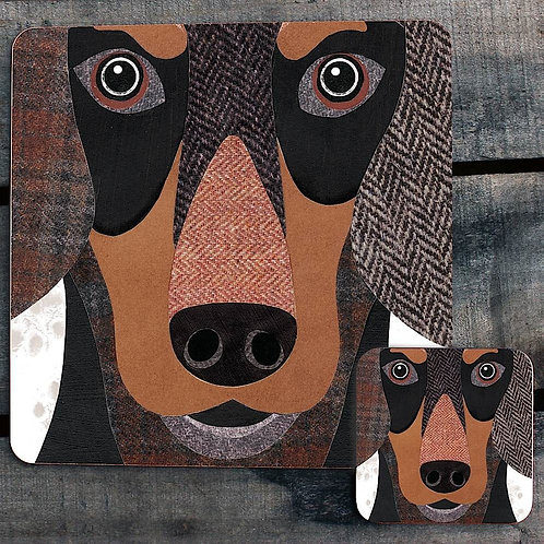 Dachshund close up Placemat/Coaster