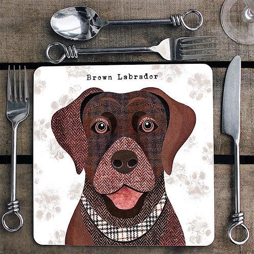 Brown Labrador dog  Placemat/Coaster