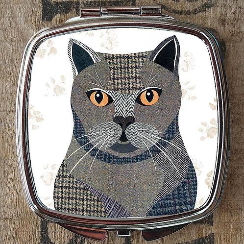 British Shorthair Cat Compact Mirror