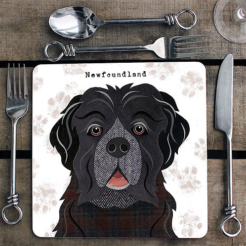 Newfoundland dog  Placemat/Coaster