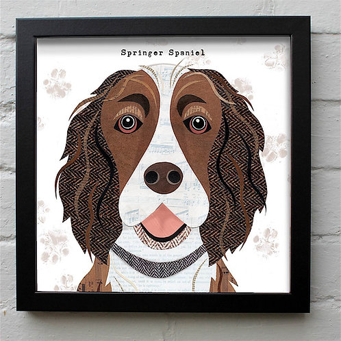Liver & White Springer Spaniel Dog Art Print