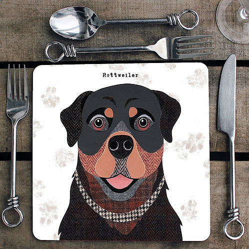 Rottweiler Placemat/Coaster