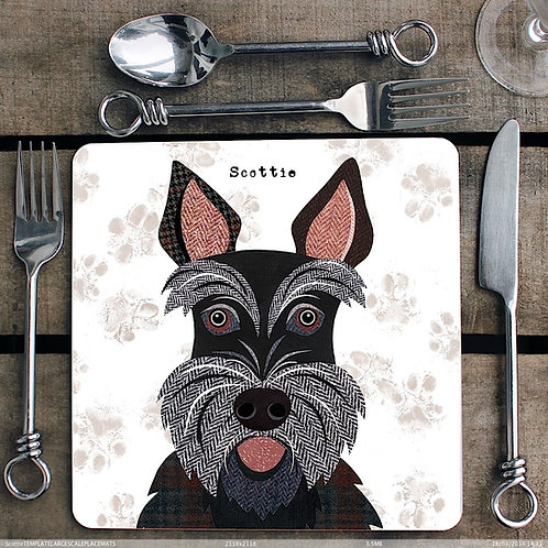 Scottie Dog Placemat/Coaster