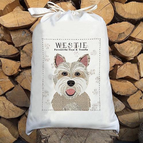 Westie Dog Sack by Simon Hart