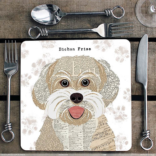 Bichon Frise Placemat/Coaster