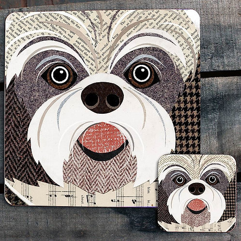 Shih Tzu close up Placemat/Coaster