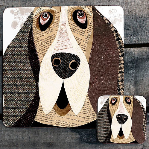 Basset Hound Close Up Placemat