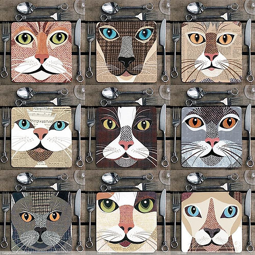 Cat Placemat 'Close Up' sets
