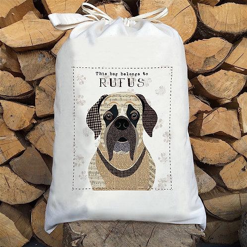 English Mastiff Dog Personalised Large Drawstring Sack