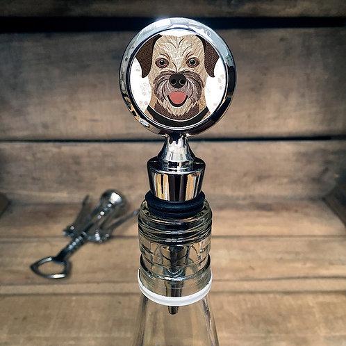 Border Terrier Dog Bottle Stopper