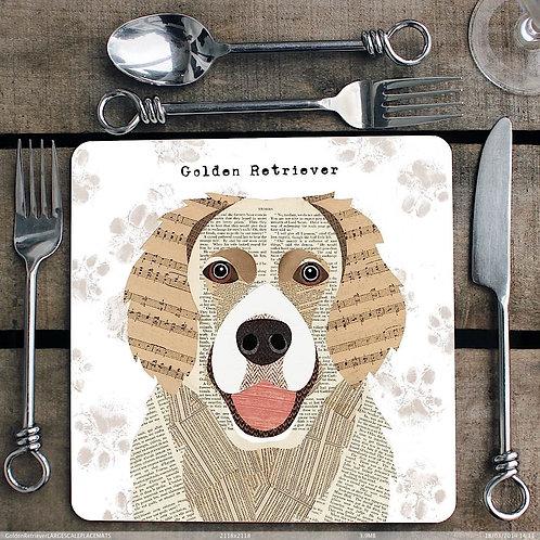Golden Retriever Placemat/Coaster