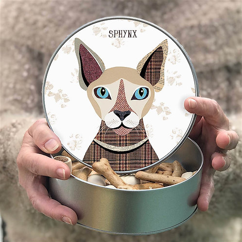 Personalised Spynx Cat Tin