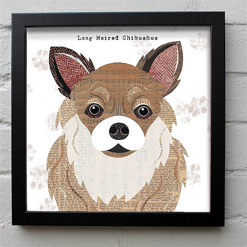 Long Haired Chihuahua Dog Art Print