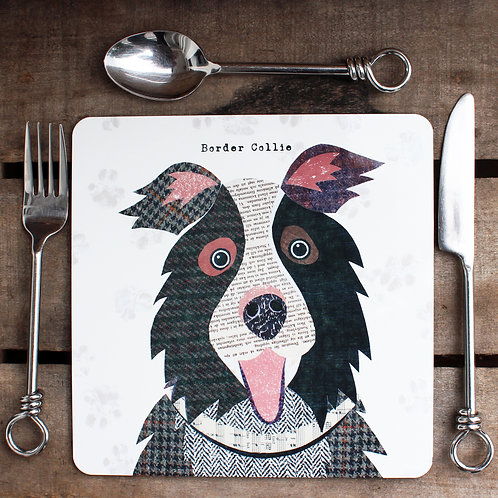 Border Collie  Placemat/Coaster