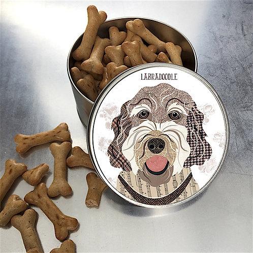Labradoodle Dog Tin