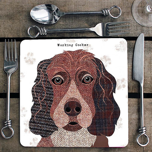 Working Cocker Placemat/Coaster