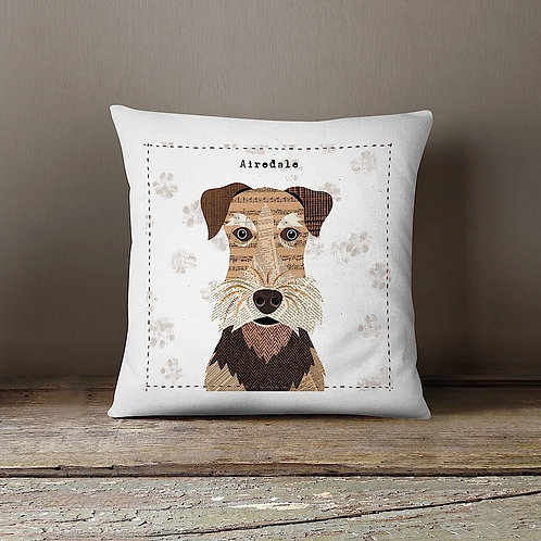 Airedale Cushion Cover/Seconds