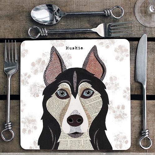 Husky Dog Placemat/Coaster