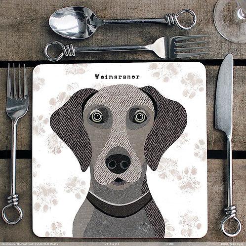 Weimaraner Placemat/Coaster