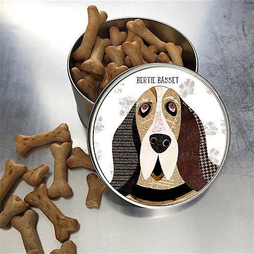 Basset Hound Dog Tin