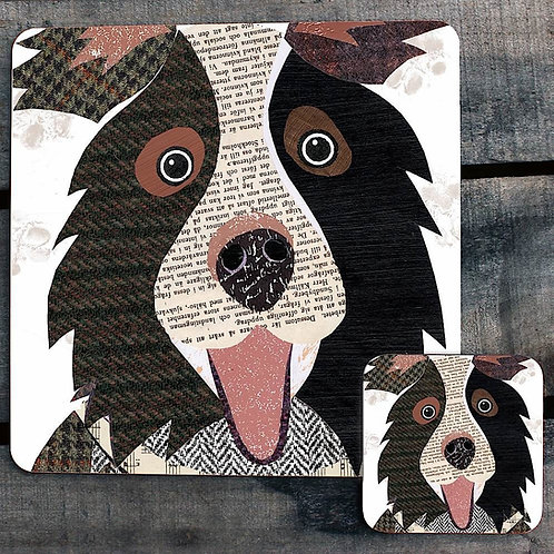 Border Collie close up Placemat/Coaster