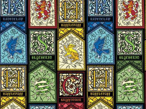 Harry Potter Houses Stained Glass