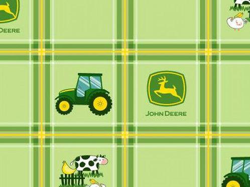 John Deere Nursery Green Check