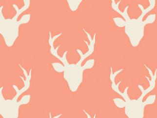 Peach Hello Bear Buck Forest