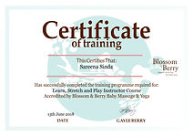 Blossom and Berry Certificate Sareen Sin