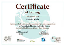 Blossom and Berry Certificate in person