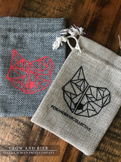 crow and bier screen printed bags