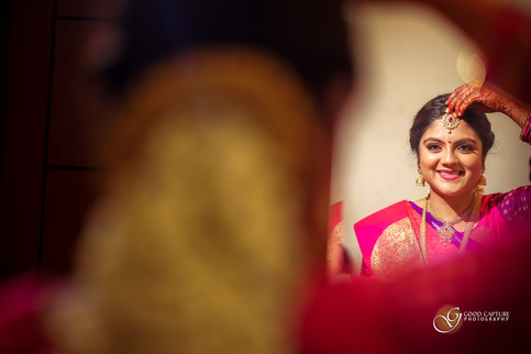 Bridal Shoot in a Brahmin wedding of Manasa