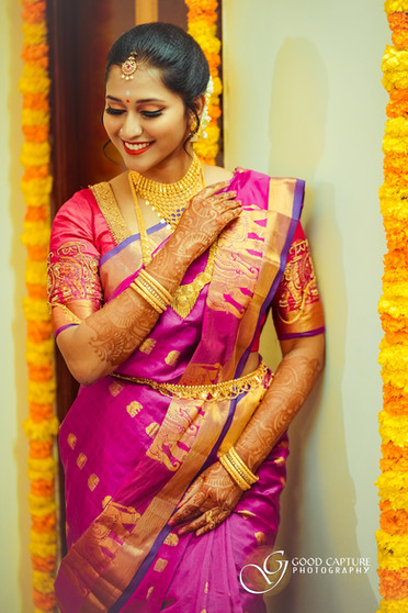 Bride poses by Sinitha for bridal Photoshoot