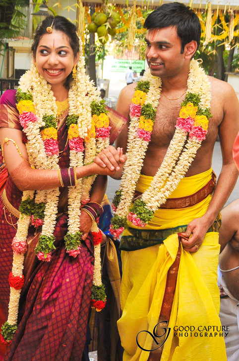 Brahmin couple photography at marriage