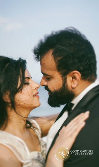 Pre wedding Photoshoot in Chennai beach by Good Capture Photography