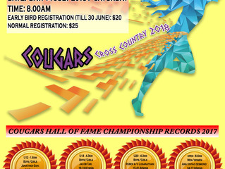 Cougars Cross Country 2018 - Early Bird Registration Ends in 12 Days!