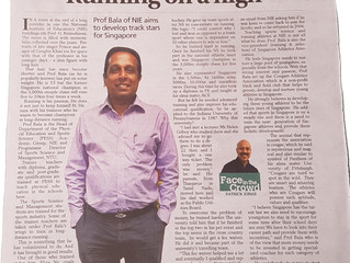 Dr. Bala featured on Tabla! - Running On A High