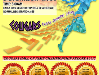 Early Bird Registration for Cougars Cross Country 2018 Ends in 5 Days' Time!