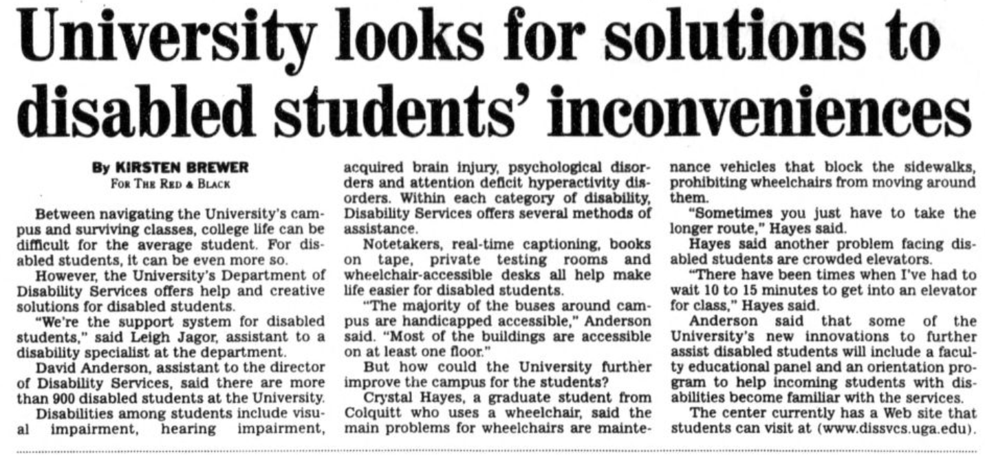 University Looks for Solution to Disabled Students' inconveniences