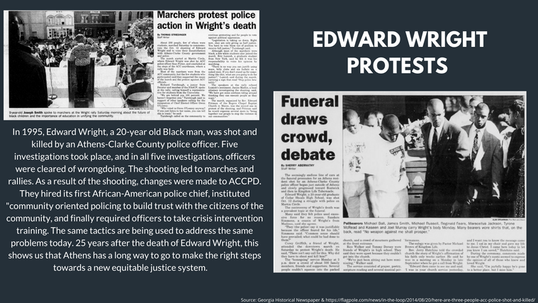 Edward Wright Protests