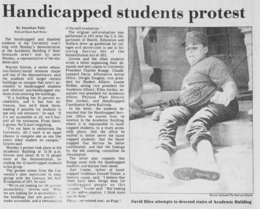 Handicapped Students Protest