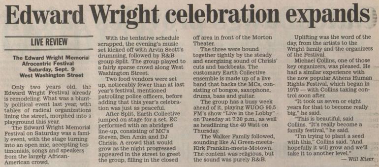 Edward Wright Celebration Expands