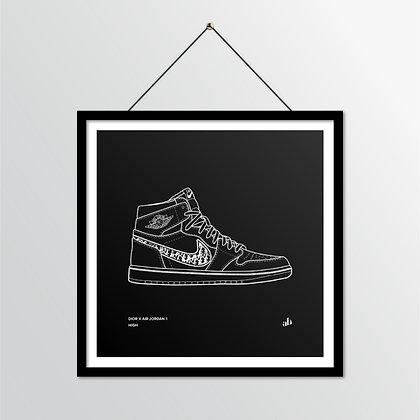 DIOR x Air Jordan 1 High -illustratie