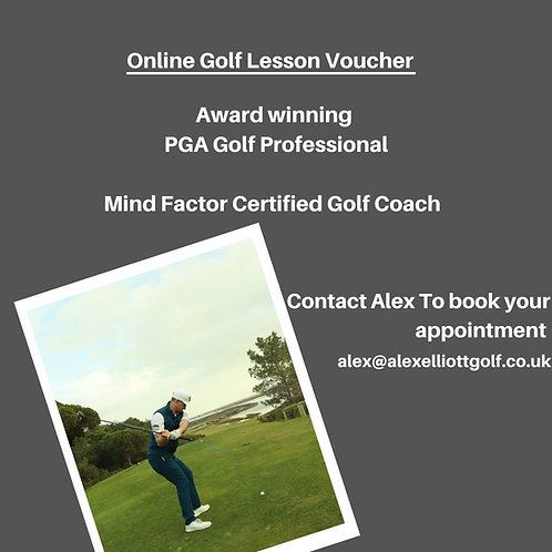 Online Golf Lesson voucher