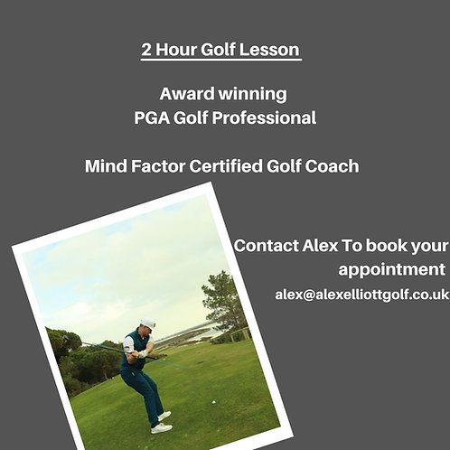 2 Hour Face To Face Golf Lesson