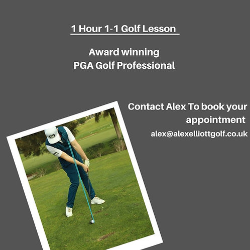 Single face to face Golf Lesson
