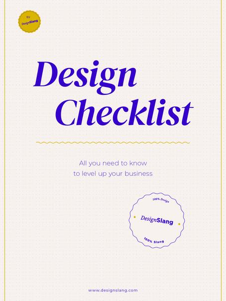 Design Checklist - Get startet!