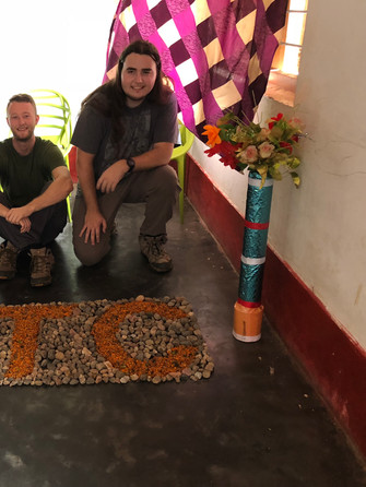 At House of Love, this stone sign was made to honor our July 2018 team.